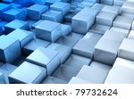 abstract image of cubes... | Shutterstock . vector #79732624