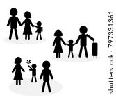 simple family icon in black and ... | Shutterstock .eps vector #797331361