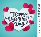 valentine s day greeting card.... | Shutterstock .eps vector #797333647