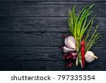 onion on a wooden background....