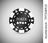 black casino chip icon. casino...   Shutterstock .eps vector #797338915
