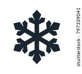 snowflake icon  vector simple... | Shutterstock .eps vector #797339041