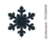 snowflake icon  vector simple... | Shutterstock .eps vector #797339059