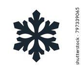 snowflake icon  vector simple... | Shutterstock .eps vector #797339065