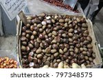 nuts on the store shelves in... | Shutterstock . vector #797348575