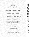 vintage wedding invitation... | Shutterstock .eps vector #797350564