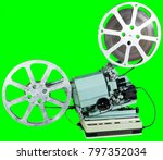 a movie projector is an opto... | Shutterstock . vector #797352034