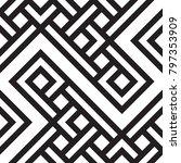 black and white geometric... | Shutterstock .eps vector #797353909