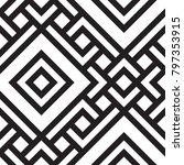 black and white geometric... | Shutterstock .eps vector #797353915