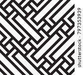 black and white geometric... | Shutterstock .eps vector #797353939