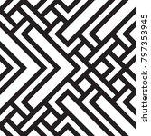 black and white geometric... | Shutterstock .eps vector #797353945