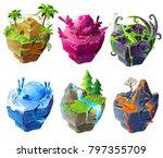 vector isometric 3d fantastic... | Shutterstock .eps vector #797355709