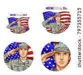 set of vector pop art round... | Shutterstock .eps vector #797355715