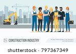 construction workers and... | Shutterstock .eps vector #797367349