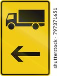 german direction sign for a...   Shutterstock . vector #797371651