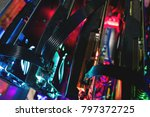 mining crypto currency. close... | Shutterstock . vector #797372725
