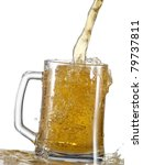 beer pour in a mug | Shutterstock . vector #79737811