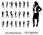 a set of business women   Shutterstock .eps vector #79738099