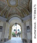 Small photo of Valletta, Malta / Malta - November 2017: entrance to the Grandmaster's palace