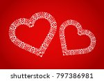 ornament and elegant hearts on... | Shutterstock .eps vector #797386981