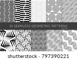 collection of black and white... | Shutterstock .eps vector #797390221