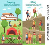 camping hiking vertical banners ... | Shutterstock . vector #797392705