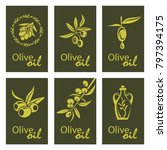 collection of labels for olive... | Shutterstock .eps vector #797394175