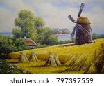 village rural oil paintings