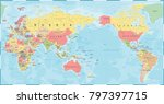 world map vintage old retro  ... | Shutterstock .eps vector #797397715