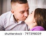 happy loving couple spending... | Shutterstock . vector #797398039