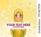 muslim woman wearing hijab veil ...   Shutterstock .eps vector #797407939