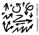 illustration of grunge sketch... | Shutterstock .eps vector #797408119