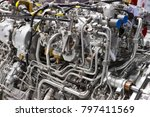 engine of fighter jet  internal ... | Shutterstock . vector #797411569