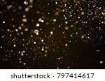 christmas gold sparkle glitter... | Shutterstock . vector #797414617