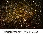 christmas gold sparkle glitter... | Shutterstock . vector #797417065