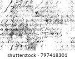 grunge black and white pattern. ... | Shutterstock . vector #797418301