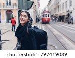female traveler woman... | Shutterstock . vector #797419039