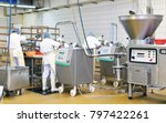 workers in the production of... | Shutterstock . vector #797422261