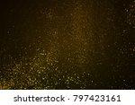 christmas gold sparkle glitter... | Shutterstock . vector #797423161