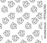 pattern style memphis diamond...   Shutterstock .eps vector #797426785