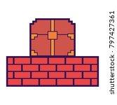 pixelated video game treasure... | Shutterstock .eps vector #797427361