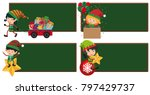 four board template with... | Shutterstock .eps vector #797429737