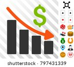 recession trend pictograph with ... | Shutterstock .eps vector #797431339