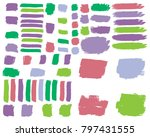 collection of hand drawn... | Shutterstock .eps vector #797431555