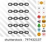 blockchain array icon with...