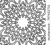 coloring page for adults. a... | Shutterstock .eps vector #797432731