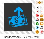 pay blue icon inside gray...