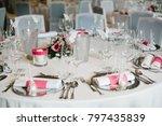 wedding table decor ceremony... | Shutterstock . vector #797435839