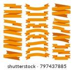 set of orange ribbon vector  | Shutterstock .eps vector #797437885