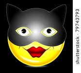 cat mask smile character | Shutterstock . vector #79743793